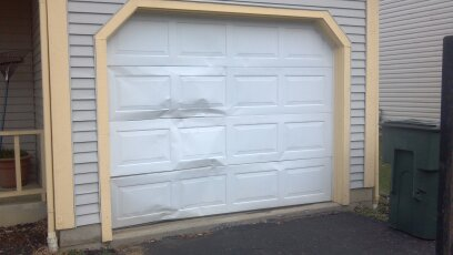 Professional Repair And Installation Of Broken Garage Door Panels In New  Haven