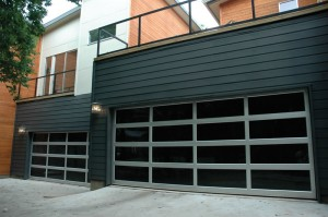contemporary style glass garage door new haven ct